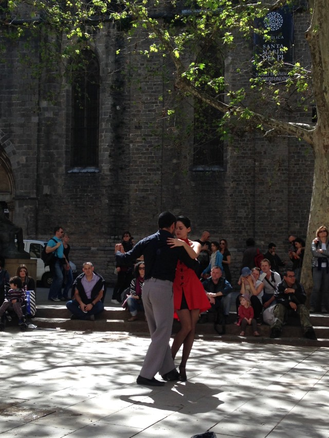 Dancers in Barcelona