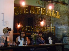 Meatballs Wine Bar in Fliinders Lane