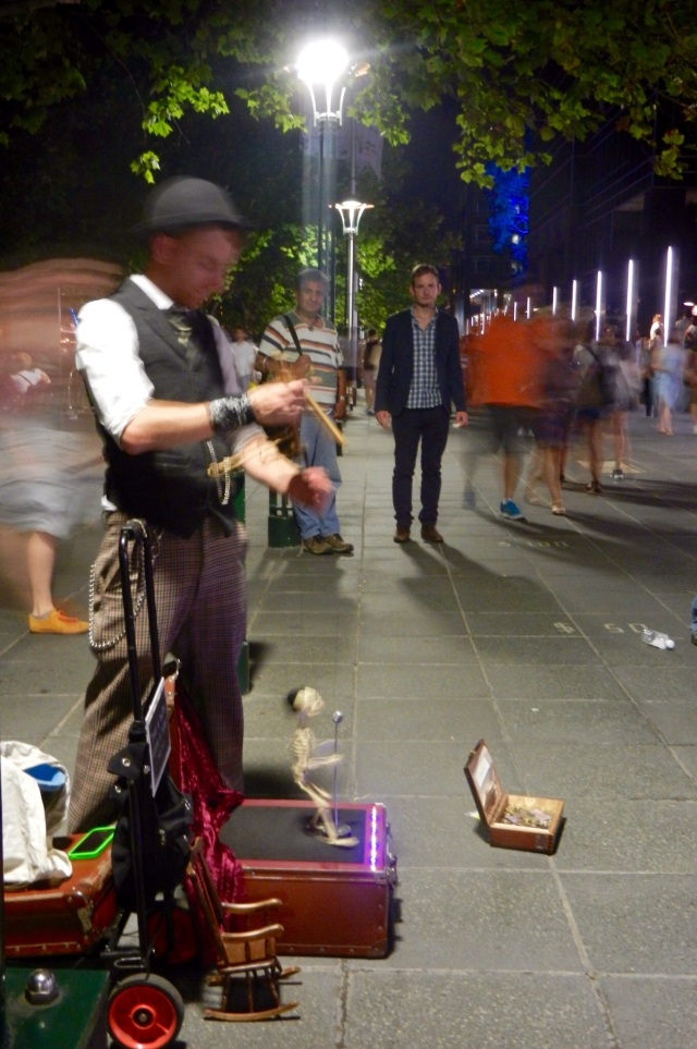 Busker at White Night