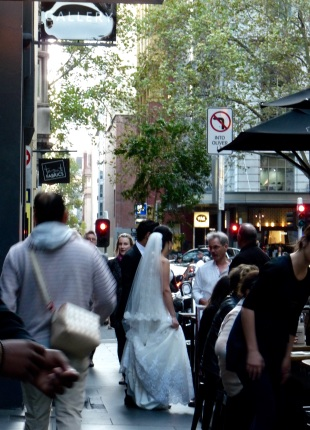 Bride in Flinders Lane