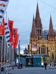 St Pauls and flags