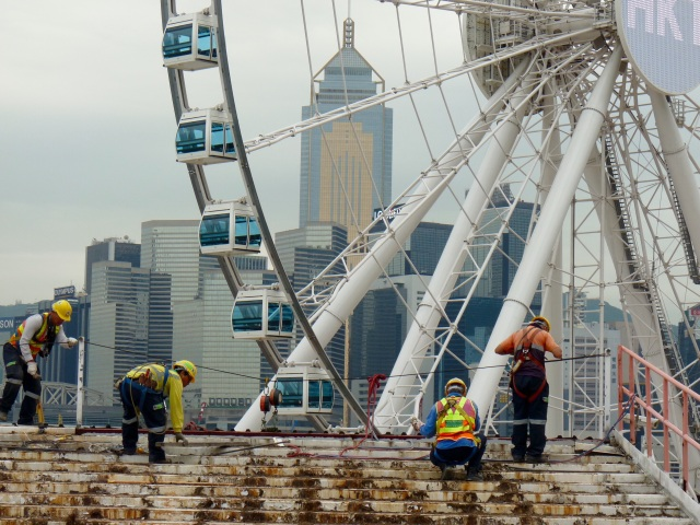 Workmen in Hong Kong