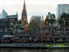 View across Yarra with boat