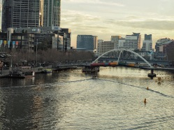 View down river