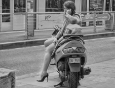 Girl on scooter