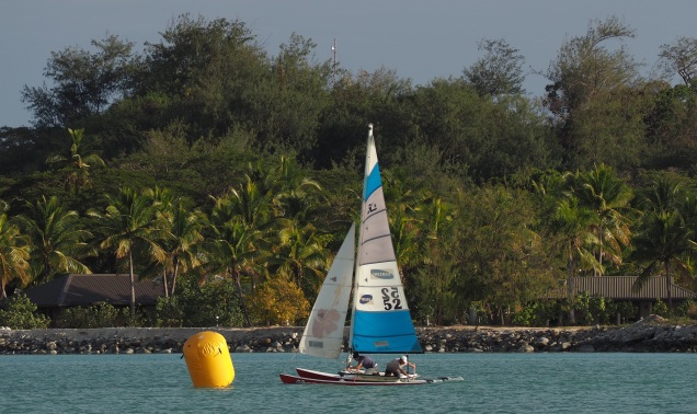 Phantom Mist crew racing in the Hobie Cat challenge