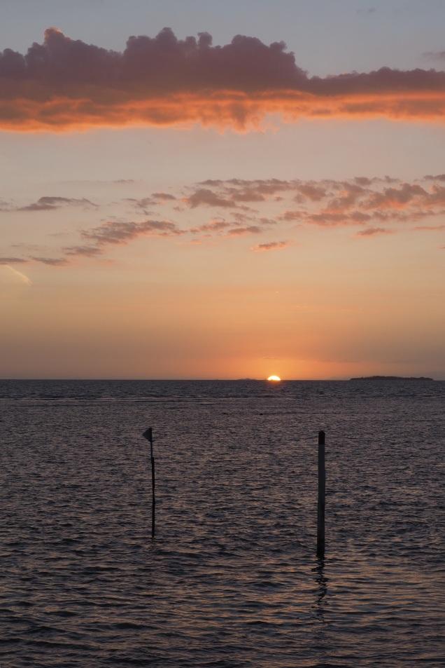 View of sunset from Vuda Marina bar