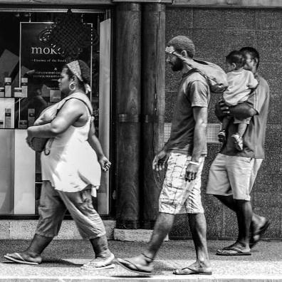 Nadi town shoppers