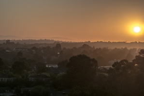 View east to Dandenong Ranges