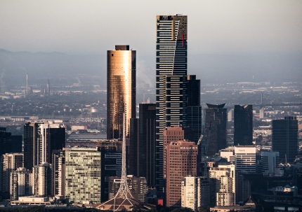 Eureka Tower and other city buildings