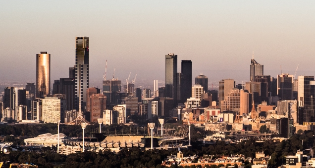 City view over the Melbourne Cricket Ground